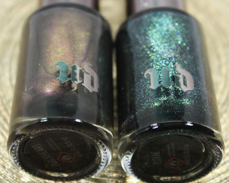 Urban Decay Nail Color Blackheart and Zodiac