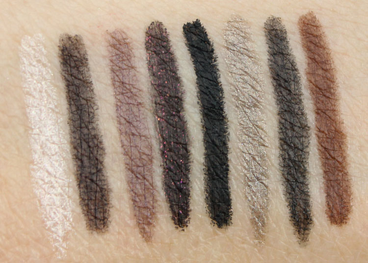 Urban Decay Naked 24-7 Glide-On Double-Ended Eye Pencil Swatches