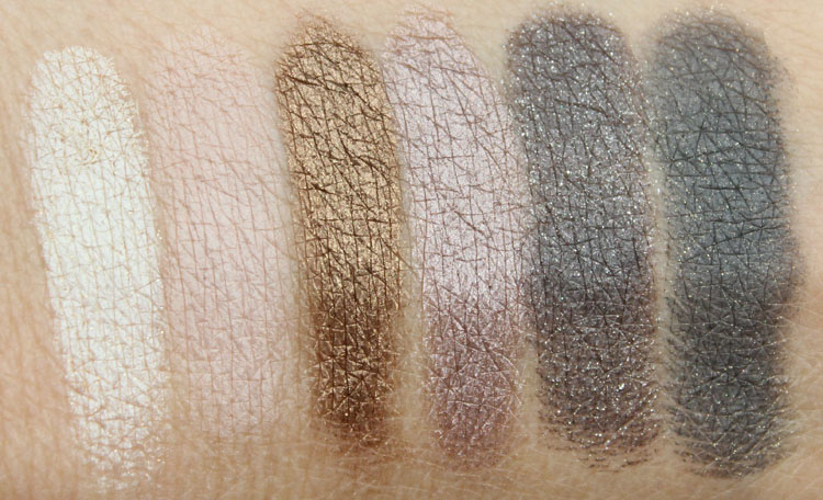 bareMinerals Perfect Ten Swatches