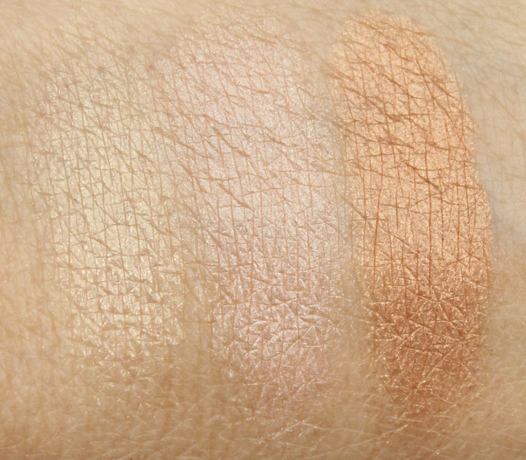 bareMinerals The Many Splendors Swatches