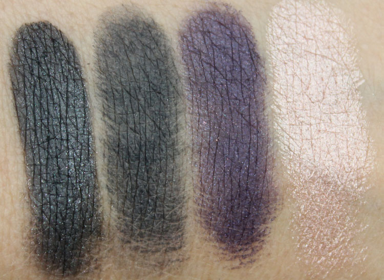 bareMinerals The Mix Master Convertible Eyeshadow Palette Swatches-2