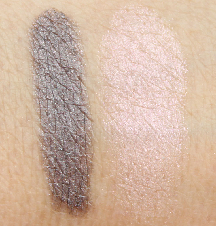 Laura Mercier Twilight and Opal Fantasy Swatches