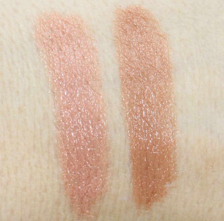 MAC Close Contact, Sensual Sparks Swatches