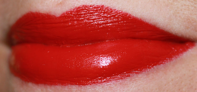 of Red Lipstick Featuring MAC Russian Red ...