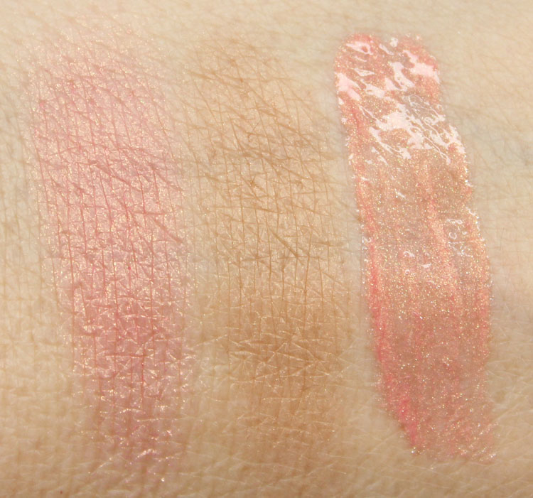 NARS Loves Miami Blush, Bronzer, Orgasm Lip Gloss Swatches