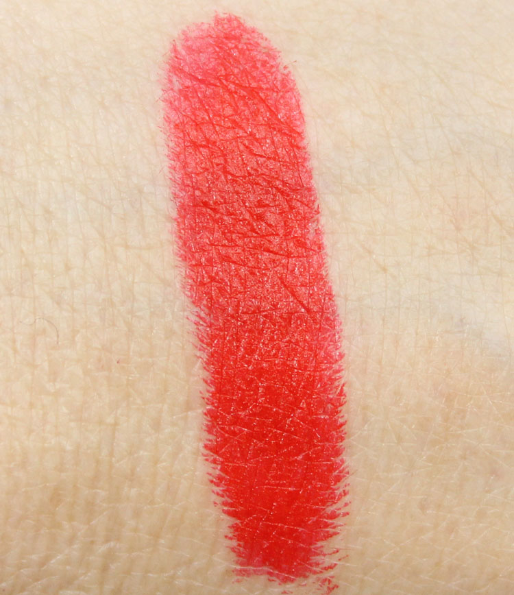 NYX Pure Red Lipstick Swatch