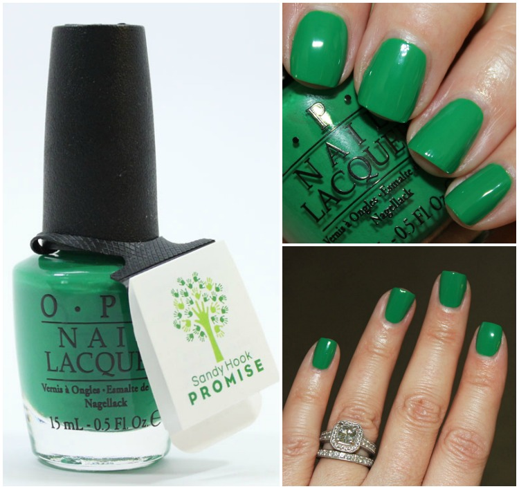 OPI Sandy Hook Green Collage
