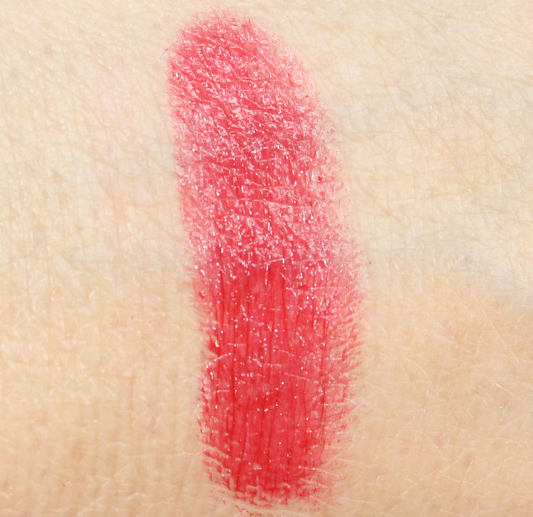 Too Faced La Creme Color Drenched Lip Cream in Stiletto Red Swatch