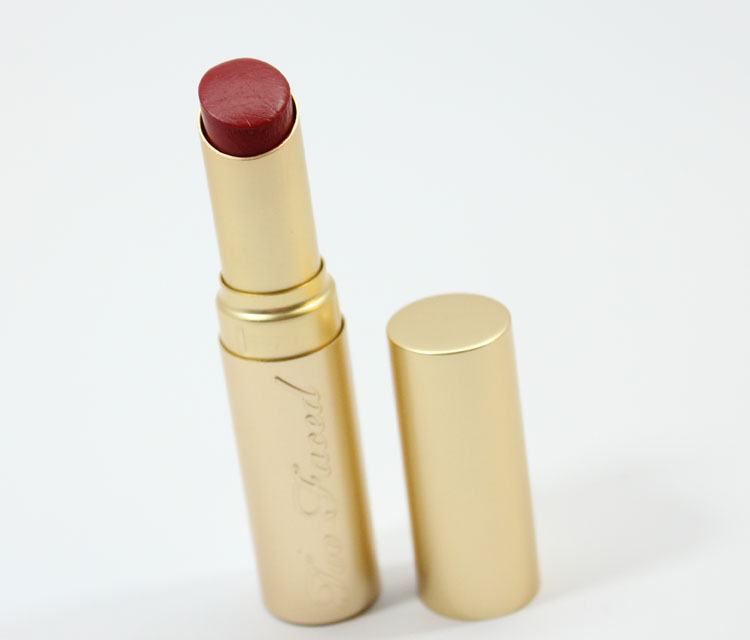 Too Faced La Creme Color Drenched Lip Cream in Stiletto Red