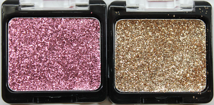 Wet n Wild Color Icon Eyeshadow Glitter Singles in Groupie and Brass