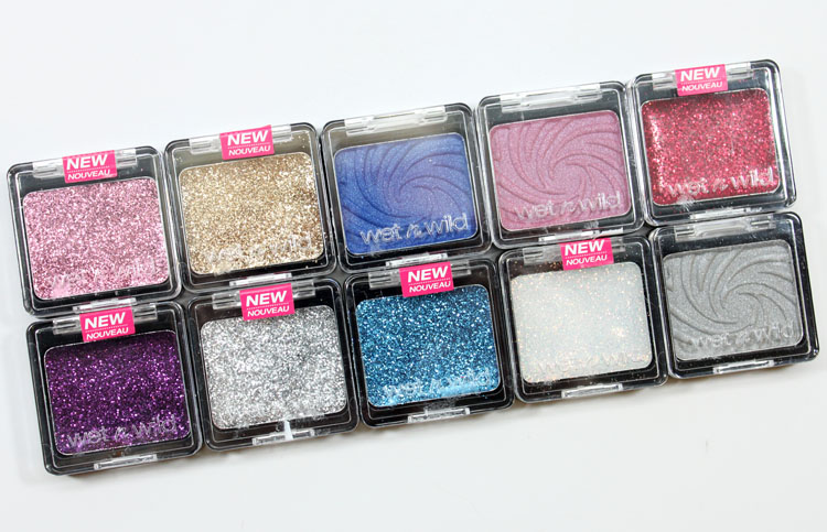 Wet n Wild Color Icon Eyeshadow and Glitter Singles