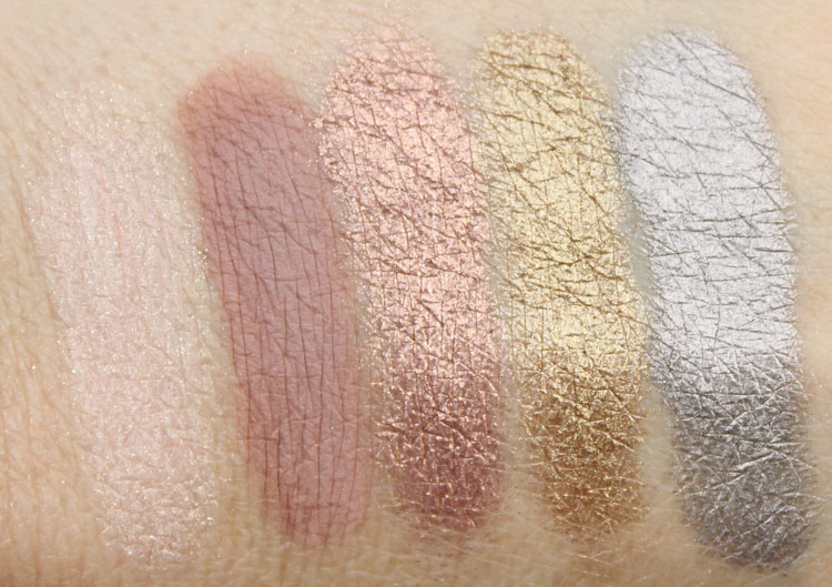 bareMinerals Degrees Of Dazzling Swatches-2