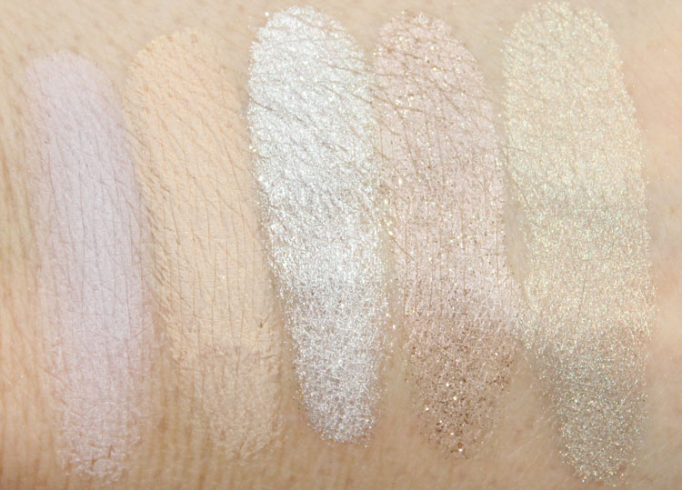 bareMinerals Degrees Of Dazzling Swatches
