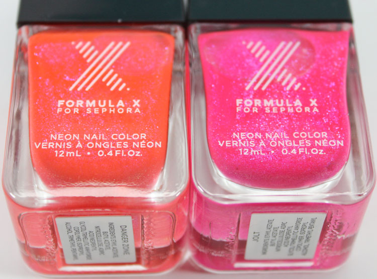 Formula X for Sephora Danger Zone and Jolt