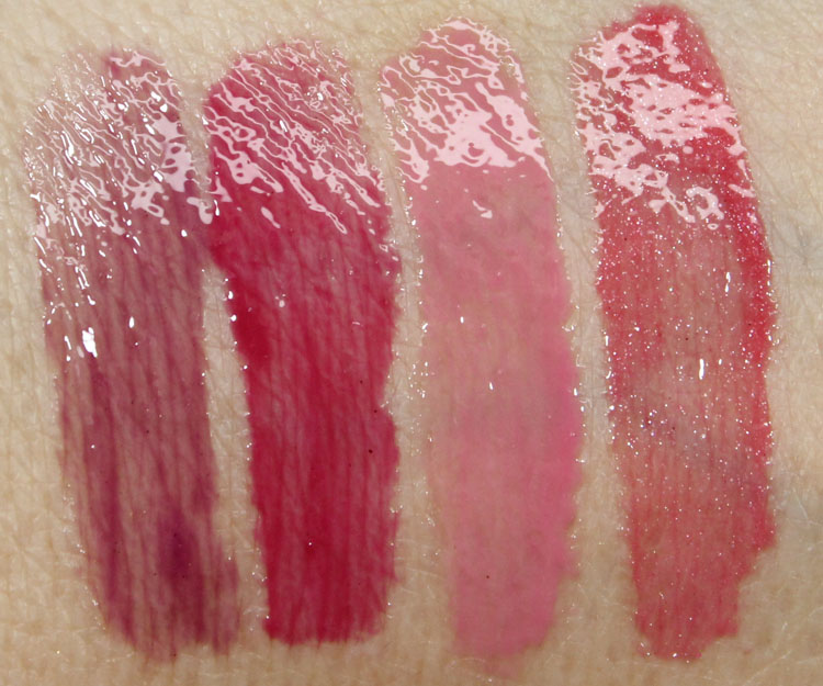 Milani Brilliant Shine Lip Gloss Berry Tempting, Ravish Raspberry, Pink Lady, Rose Blush