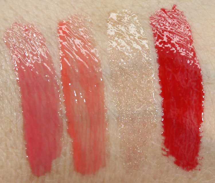 Milani Brilliant Shine Lip Gloss Sweet Grapefruit, Coral Crush, Nude Touch, Red My Lips