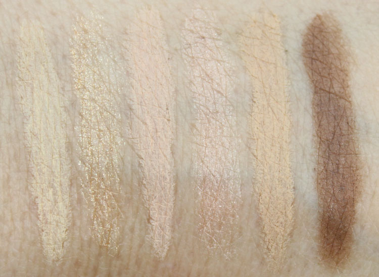 Milani Brow & Eye Highlighers Swatches