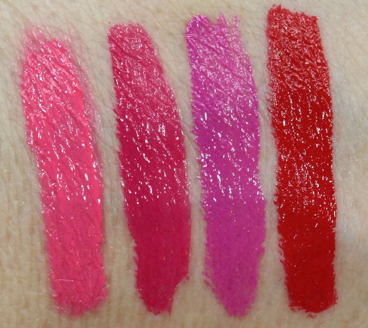 Milani Lip Intense Liquid Color Swatches