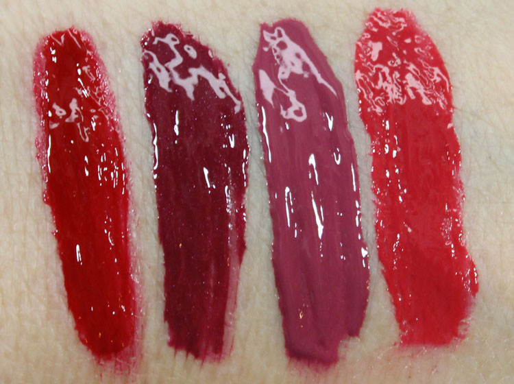 Milani Power Lip Lasting & Moisturizing Gloss Stain Swatches