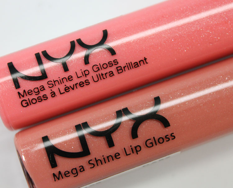 NYX Mega Shine Lip Gloss in Nude Peach and Smokey Look