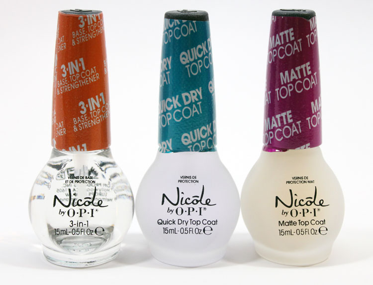 Nicole by OPI 3-in-1, Quick Dry Top Coat and Matte Top Coat Review ...