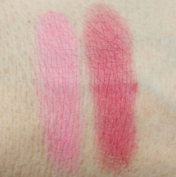Milani Baked Blush Delizioso Pink, Bella Rosa Swatches