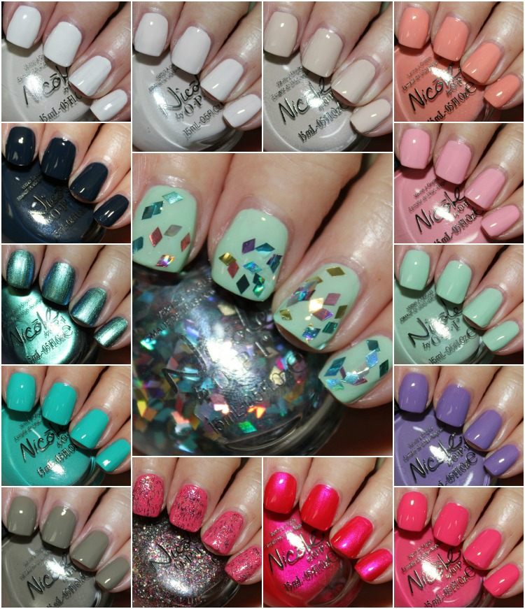 Nicole by OPI 2014 Collection Collage