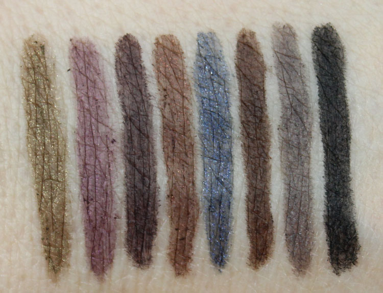 bareMinerals Lasting Line Long-Wearing Eyeliner Swatches