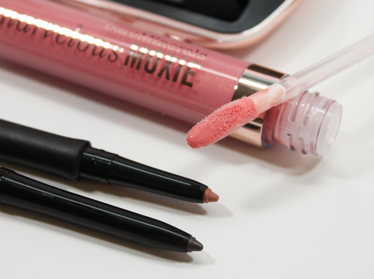 bareMinerals Marvelous Moxie Lipgloss Heartbreaker, Lipliner Liberated, Eyeliner Always Charcoal
