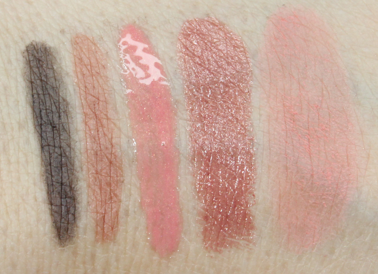 bareMinerals True Romantic Collection Swatches