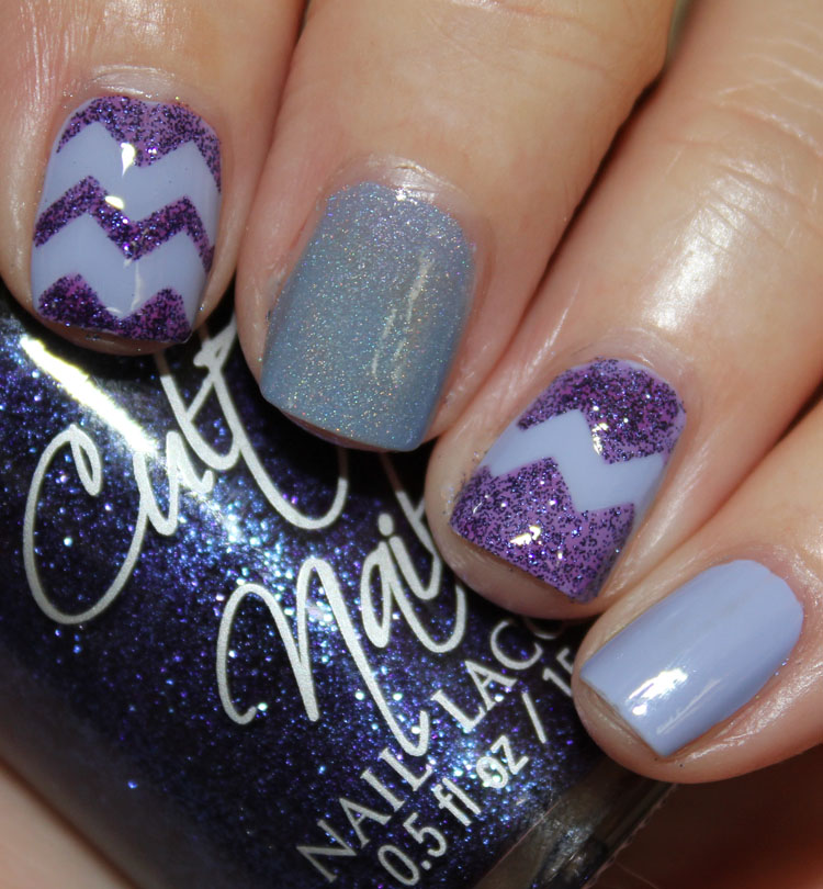 Cult Nails Causal Elegance with Nail Vinyls Chevron
