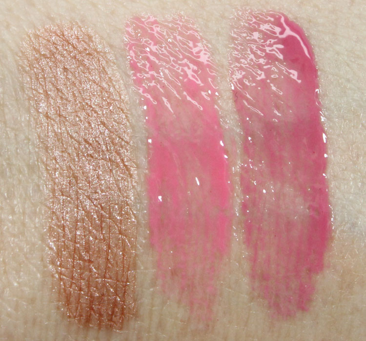 Laura Mercier Pure, Pink Pop, Tulip Swatches