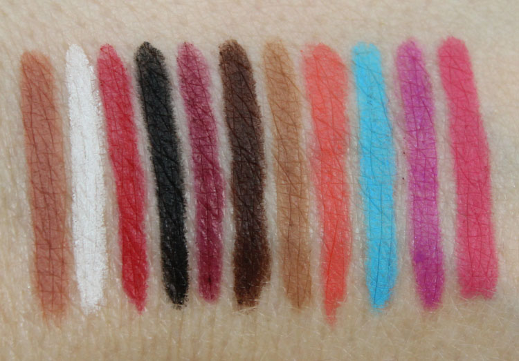 Obsessive Complusive Cosmetics Cosmetic Colour Pencils Swatches