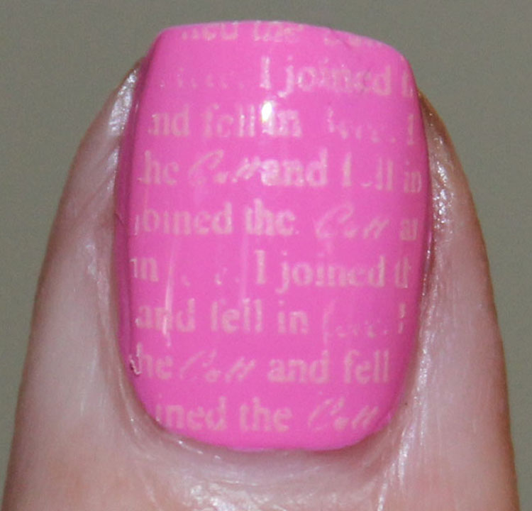 Cult Nails Falling Hard with Stamp