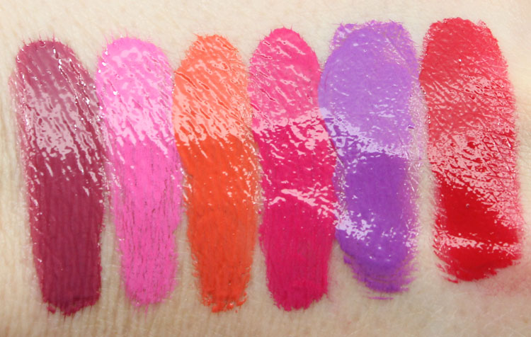 L.A. Girl Glazed Lip Paint Swatches