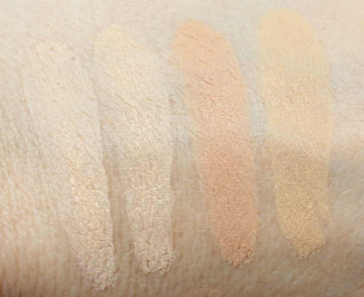 MAC Pro Longwear SPF 20 Compact Foundation Swatches