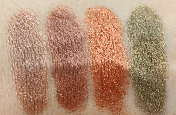 Makeup Geek Pigments Swatches