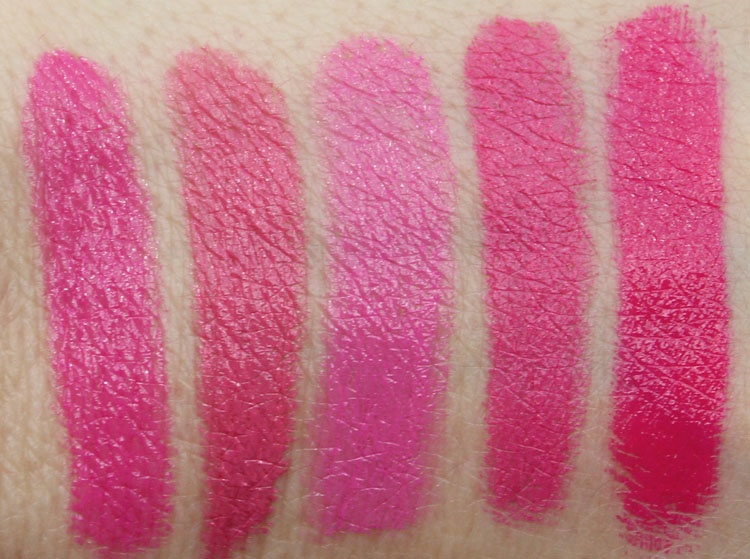 Top 10 Pink Lipstick Swatches