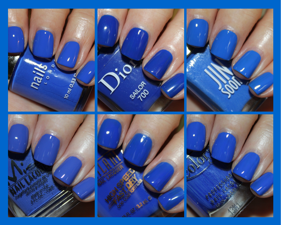 Bright Cobalt Blue Nail Polish