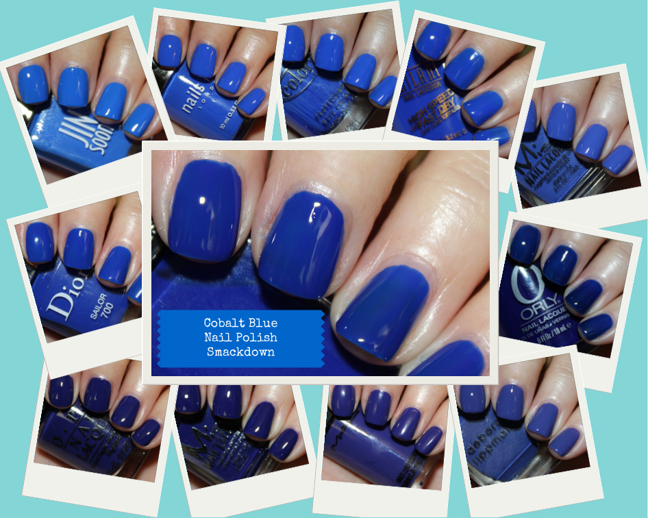 Cobalt Blue Nail Polish Smackdown