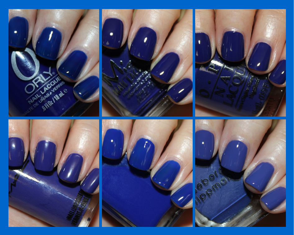 Dark Cobalt Blue Nail Polish
