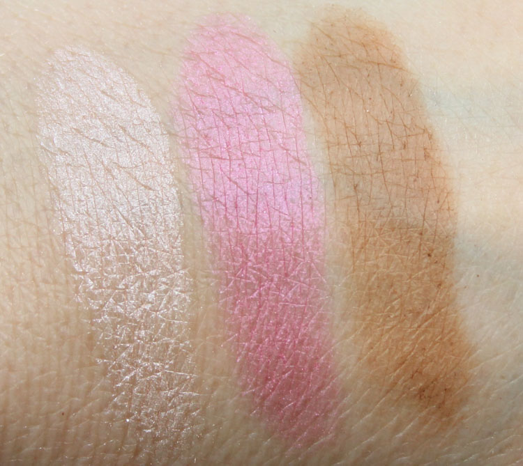 Hard Candy Contouring Face Trio 3 strikes swatches