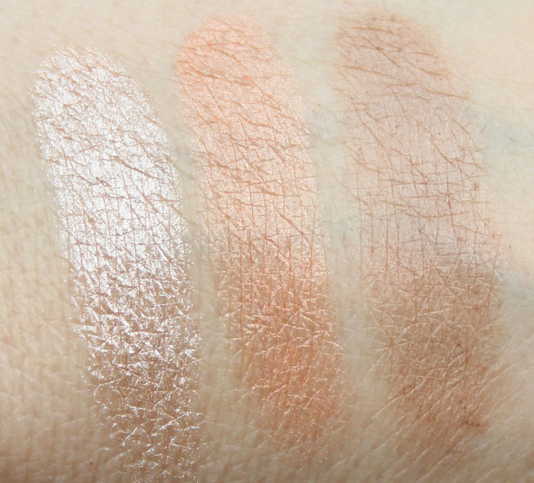Hard Candy Contouring Face Trio 3 x a lady swatches