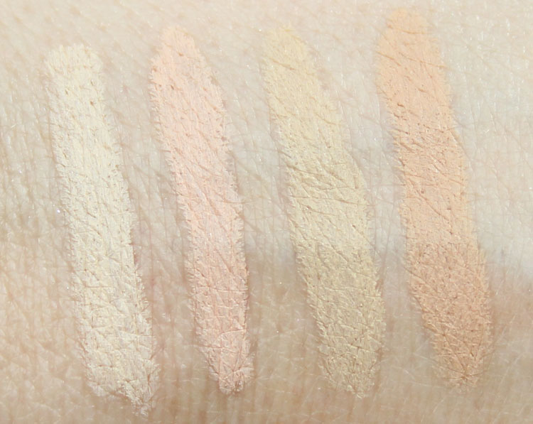 Hard Candy Glamoflague Light, Medium Swatches