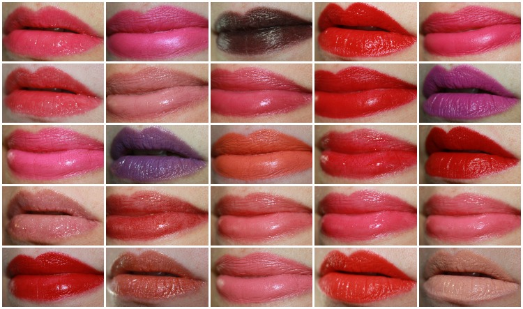 MAC Lipstick Collage-2