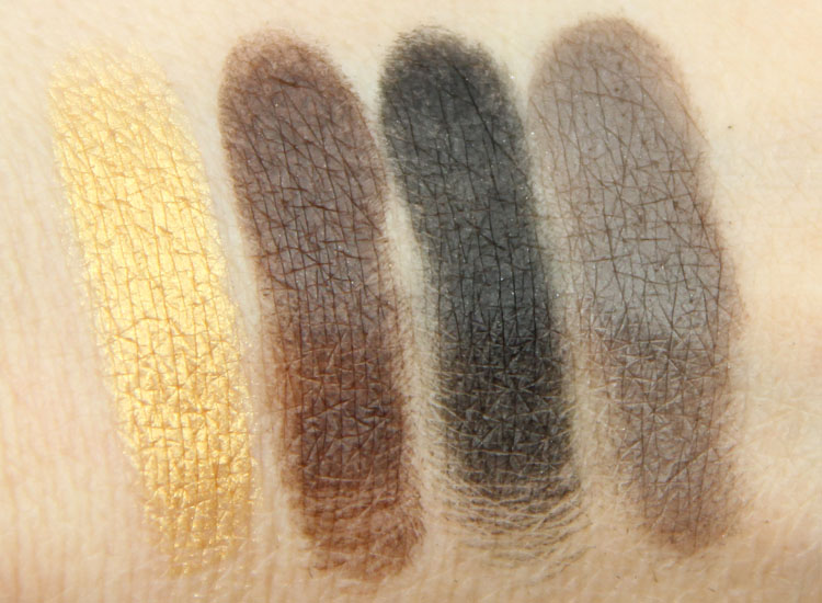 MAC Maleficent Eye Shadow Swatches