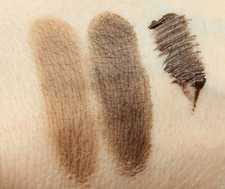 MAC The Waterproof Brow Swatches