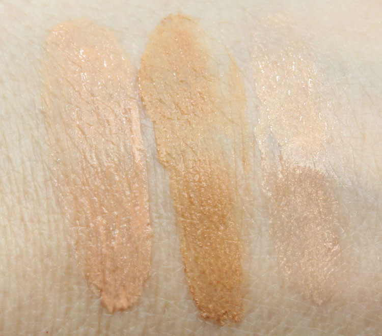 Urban Decay Beauty Balm Illuminating, Bronzing, Body Swatches