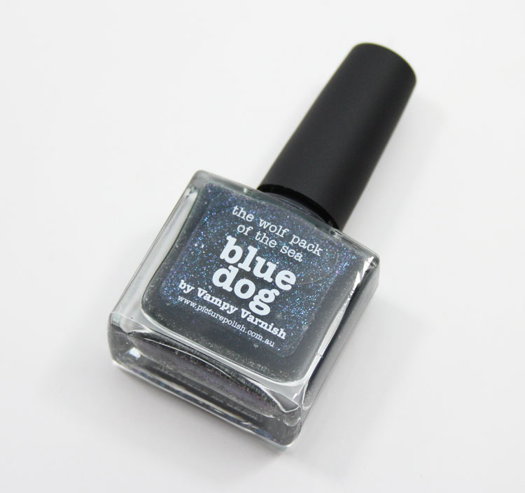 piCture pOlish Blue Dog by Vampy Varnish-2