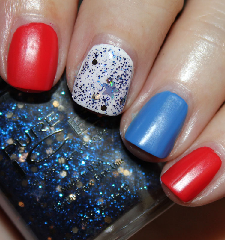 Fourth of July Nail Art with Pure Ice Matte